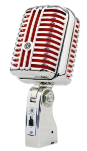Classic Mic (Chrome & Red)