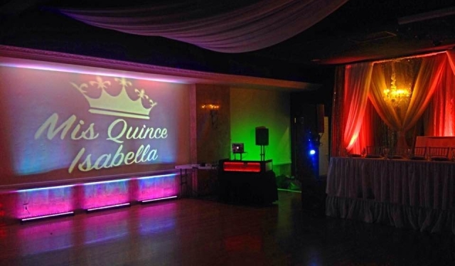 Quince uplights Isabella Friendship Hall