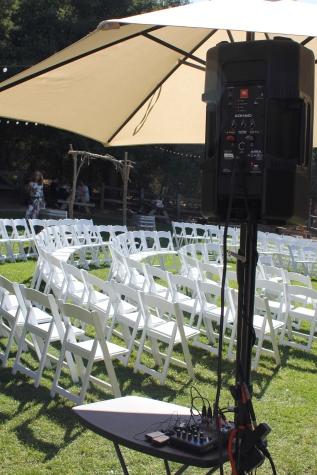 Ceremony dj booth Picchetti II
